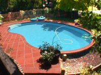 Kidney shaped above ground swimming pools for small yard ...