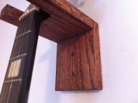 Wall mount, Guitar hanger and Solid oak on Pinterest