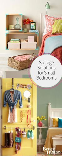 Small bedrooms, Storage solutions and Bedrooms on Pinterest