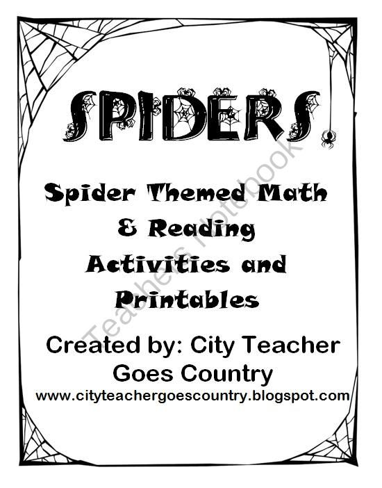 Spider Themed Language Arts Centers & Worksheets (3rd-4th