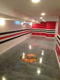 Chicago sports themed man cave painting. I don't want a ...
