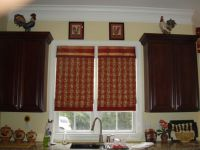 curtain valence hung inside the window frame | inside the ...
