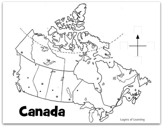 Printable maps, Canada and Maps on Pinterest