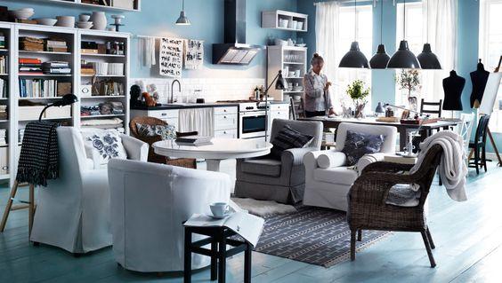 IKEA sterreich Inspiration Wohnzimmer EKTORP JENNYLUND und EKTORP TULLSTA Sessel BYHOLMA