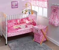 Details about NEW HELLO KITTY CANDY PINK BABY CRIB BEDDING ...