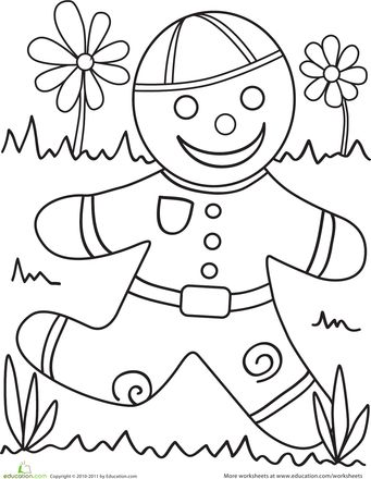Gingerbread man, Gingerbread and Worksheets on Pinterest