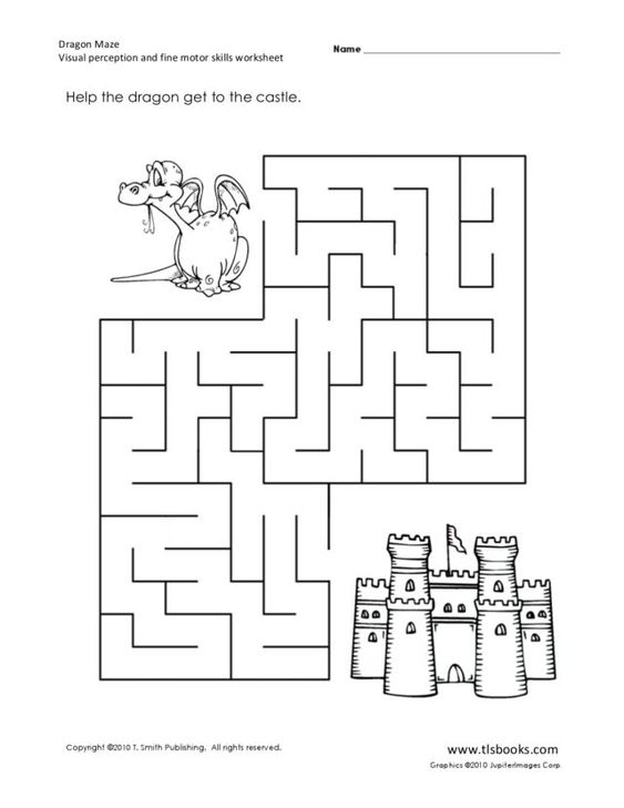 Dragon Maze: Visual Perception and Fine Motor Skills