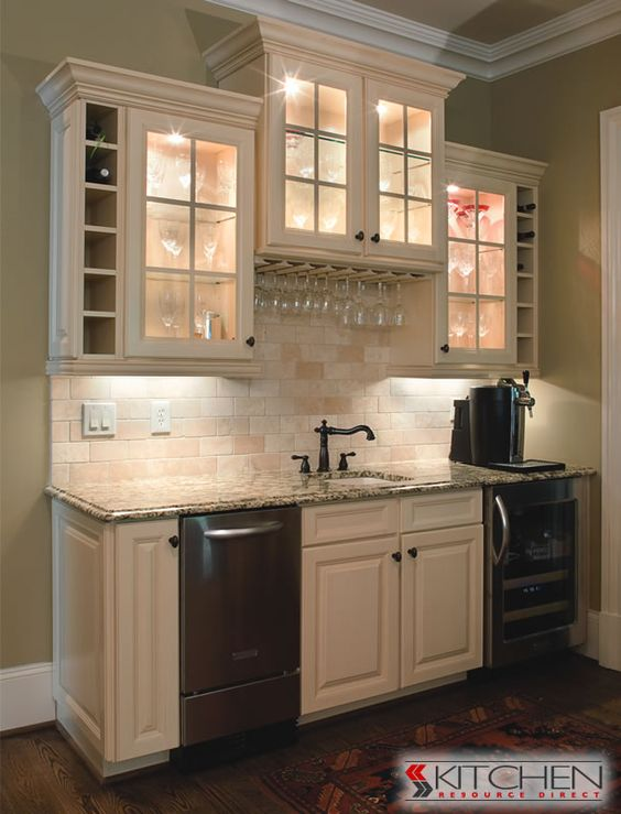 youngstown kitchen cabinets countertop amazing bar area with white glass door cabinets. | ...