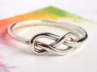 Infinity Knot Ring-- Sterling silver ring, love ring, love ...