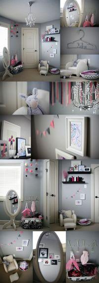 Little girls room, frames, dress up corner, reading chair ...