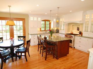 kitchen with oak trim