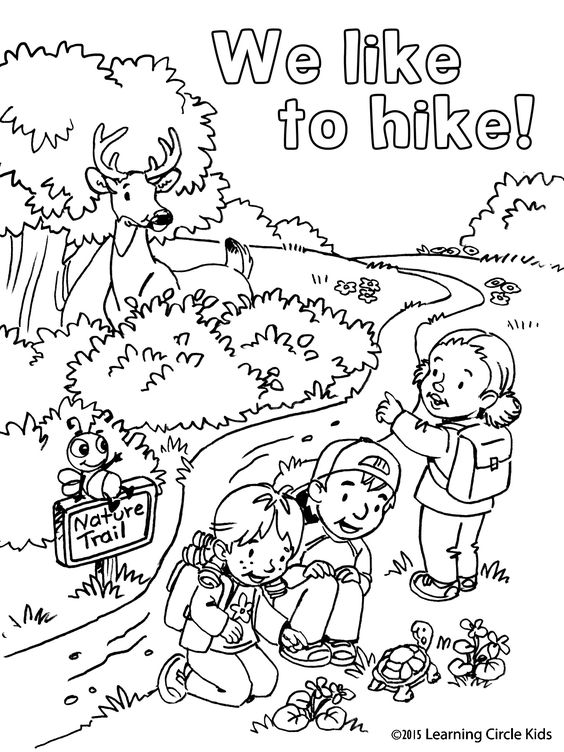 Coloring pages, Hiking and Summer on Pinterest