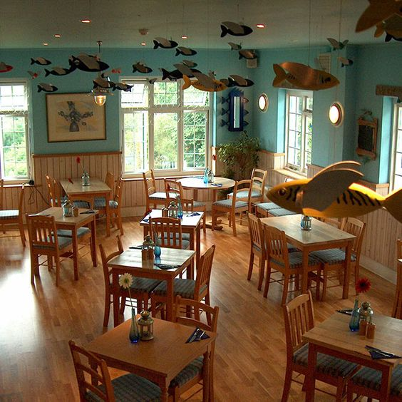 Seaside Nautical Themed Restaurant Seating Area St