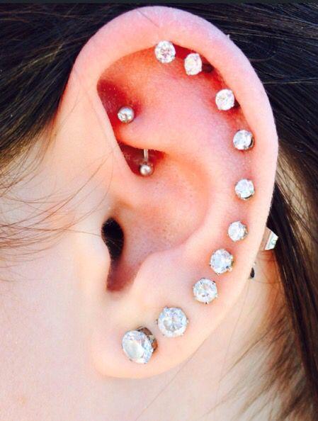 Ear piercing, Piercing and Ears on Pinterest
