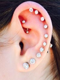 Ear piercing, Piercing and Ears on Pinterest