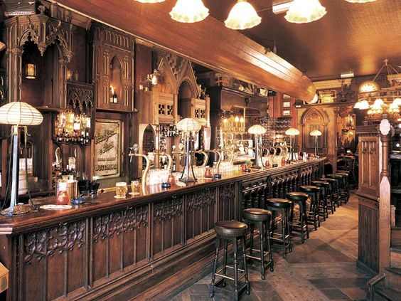 Pub design and refurbishment by Andy Thornton  Traditional pub interior  Barspubs  taverns