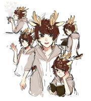 anime guys antlers