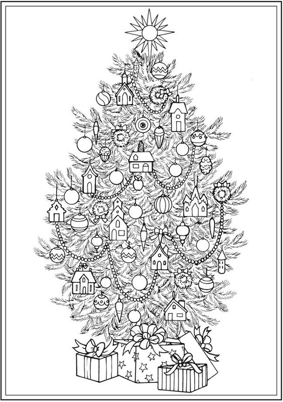 Creative Haven CHRISTMAS TREES Coloring Book By: Barbara