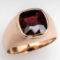 Garnet rings, Red garnet and Men's vintage on Pinterest