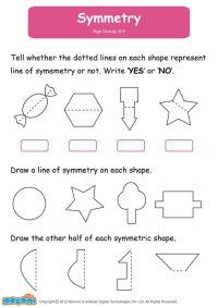 Symmetry - Math Worksheet for Kids. For more interesting ...
