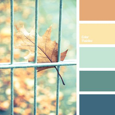 The gentle and warm colors of this palette make the cold shades look warm, too. An unusual and beautiful combination..: