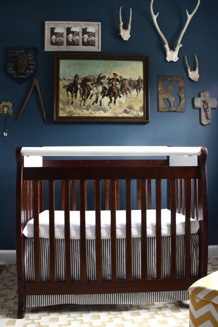 Unique western history baby room - would be a cool idea for a toddlers bedroom too: