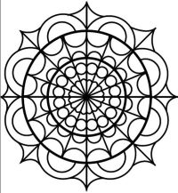 stained glass mandala | mandalas | Pinterest | Coloring ...