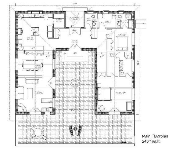 Haciendas, Courtyard ideas and Courtyards on Pinterest