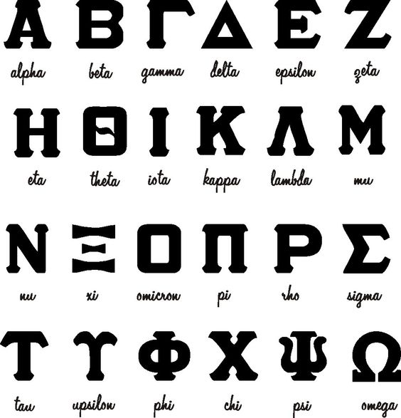 Greek Letters With Text Choice Sorority/Fraternity by