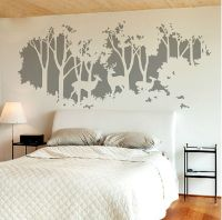 Gray Deer Tree Decal- Tree Wall Sticker-Forest Tree Decals ...