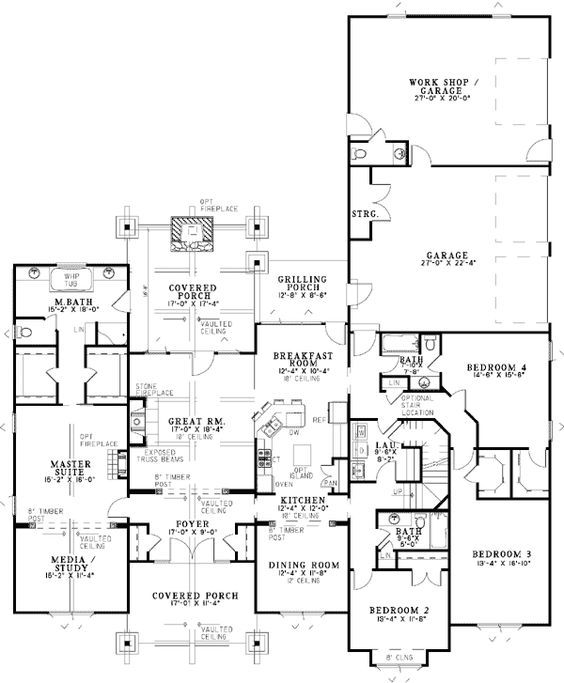 House plans, Bedroom corner and Rustic on Pinterest