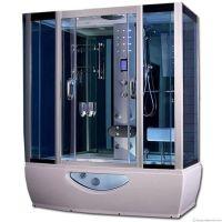 Combination whirlpool bath steam shower cabin 1650x800 ...