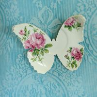 Butterfly Wall Art Upcycled Ceramic Vintage Plate by ...