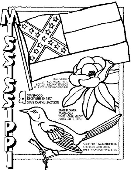 #Mississippi State Symbol Coloring Page by Crayola. Print