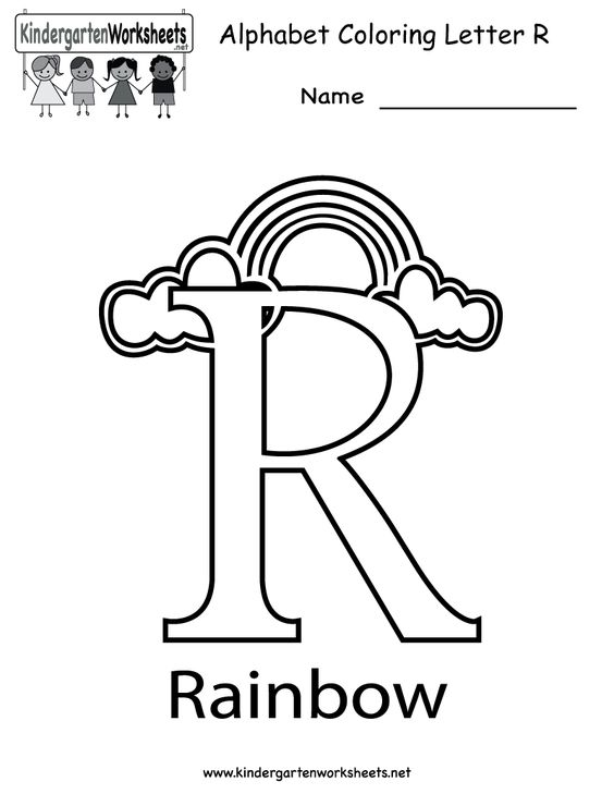 Kindergarten Letter R Coloring Worksheet Printable, great