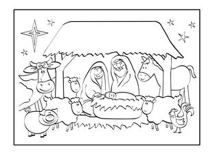 Christmas nativity, Greeting card template and Nativity on
