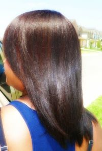 Long relaxed hair, Relaxed hair and Copper color on Pinterest