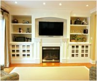 Built-ins around fireplace in downstairs living room, I ...