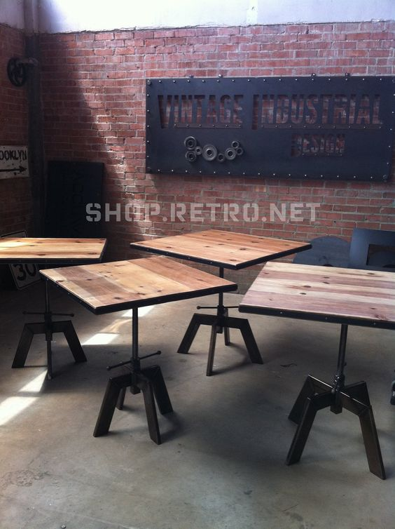 Adjustable Height Is A Great Idea Vintage Industrial Cafe