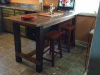 Counter Height Farm House Table | Kitchen Tutorials ...