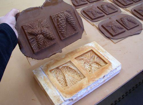 Tile, Handmade ceramic and Terry o'quinn on Pinterest