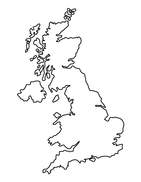 United Kingdom pattern. Use the printable outline for