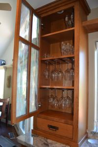 Craftsman kitchen, wine glass cabinet