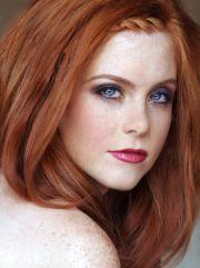 redhead with blue eyes - pretty