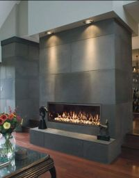 slab fireplace | kamns | Pinterest | Home, To work and ...