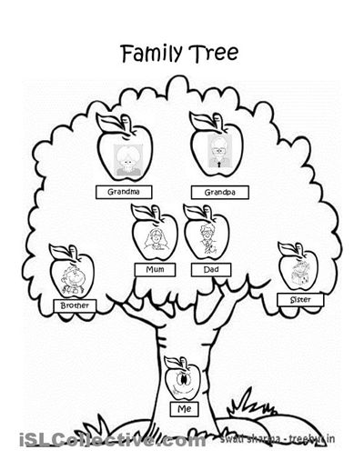 Trees, Family tree worksheet and End of on Pinterest