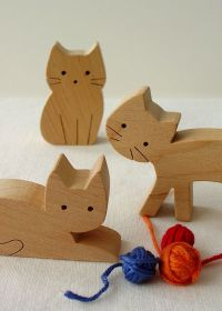 wooden cats. | puzzles, animals | Pinterest | Wool, Toys ...