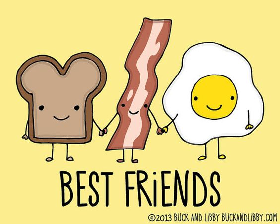 Toast Bacon And Eggs Breakfast Best Friends Frameable