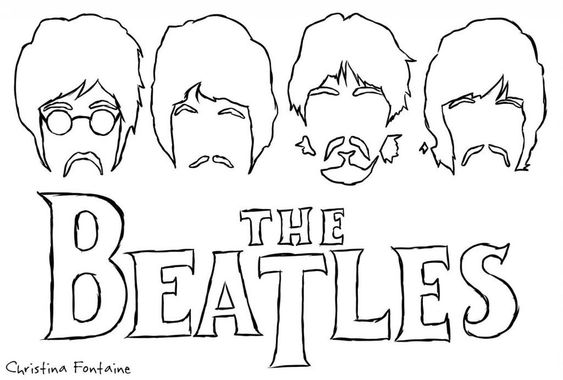 the beatles coloring pages  the beatles  silhouette