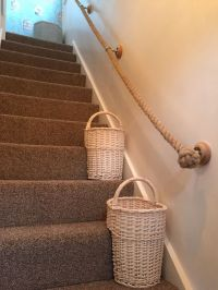 Stair basket, Ropes and Stairs on Pinterest